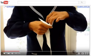 セーラー服 ネクタイの結び方